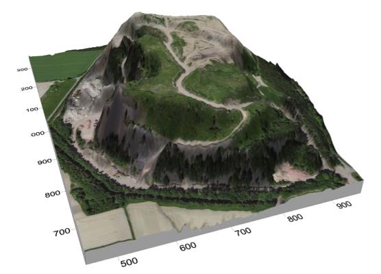3D-Modell einer Bodendeponie